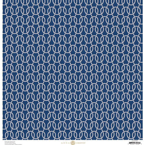 Anna Griffin - Seafarer Collection - 12 x 12 Cardstock - Carrick Bend