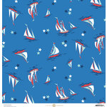 Anna Griffin - Seafarer Collection - 12 x 12 Cardstock - Breakwater