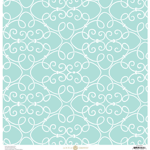 Anna Griffin - Seafarer Collection - 12 x 12 Cardstock - Scroll