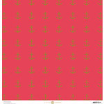 Anna Griffin - Seafarer Collection - 12 x 12 Cardstock with Foil Accents - Red Anchor