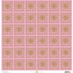 Anna Griffin - Charlotte Collection - 12 x 12 Cardstock - Flower Square - Pink