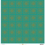 Anna Griffin - Charlotte Collection - 12 x 12 Paper - Flower Square - Aqua