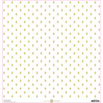 Anna Griffin - Lila Collection - 12 x 12 Cardstock with Foil Accents - Yellow Foulard