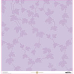 Anna Griffin - Lila Collection - 12 x 12 Cardstock - Lavender Vines