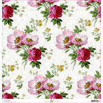Anna Griffin - Lila Collection - 12 x 12 Cardstock - Wild Rose Floral