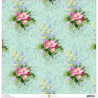 Anna Griffin - Lila Collection - 12 x 12 Cardstock - Bouquet Floral