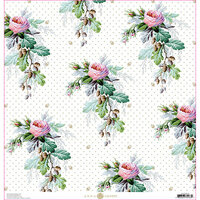 Anna Griffin - Lila Collection - 12 x 12 Cardstock - Rose Acorn Floral