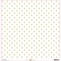 Anna Griffin - Lila Collection - 12 x 12 Paper with Foil Accents - Yellow Foulard