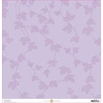 Anna Griffin - Lila Collection - 12 x 12 Paper - Lavender Vines
