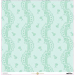 Anna Griffin - Lila Collection - 12 x 12 Paper - Blue Lace Stripe