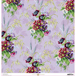 Anna Griffin - Lila Collection - 12 x 12 Paper - Primula Floral