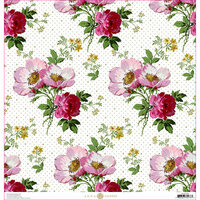 Anna Griffin - Lila Collection - 12 x 12 Paper - Wild Rose Floral