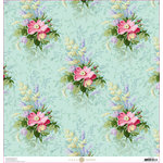 Anna Griffin - Lila Collection - 12 x 12 Paper - Bouquet Floral
