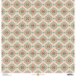 Anna Griffin - Christmas Collection - 12 x 12 Paper with Foil Finish - Red and Green Snowflake