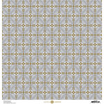 Anna Griffin - Christmas Collection - 12 x 12 Paper with Foil Finish - Silver and Gold Snowflake
