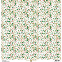 Anna Griffin - Christmas Collection - 12 x 12 Paper with Foil Finish - Holly Swirl
