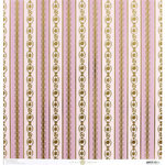 Anna Griffin - Vintage Valentine Collection - 12 x 12 Cardstock with Foil Accents - Lavender Stripe