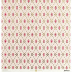 Anna Griffin - Vintage Valentine Collection - 12 x 12 Cardstock with Foil Accents - Lovely Harlequin Pink