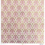 Anna Griffin - Vintage Valentine Collection - 12 x 12 Cardstock with Foil Accents - Lavender Damask