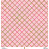 Anna Griffin - Foil Plaid Collection - 12 x 12 Cardstock - Hot Pink Diamond