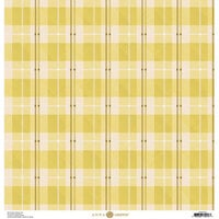Anna Griffin - Foil Plaid Collection - 12 x 12 Cardstock - Yellow Lined