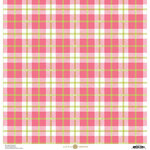 Anna Griffin - Plaid Collection - 12 x 12 Cardstock - Pink and Green