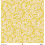 Anna Griffin - Feather Collection - 12 x 12 Cardstock - Full Yellow