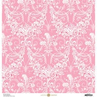 Anna Griffin - Feather Collection - 12 x 12 Cardstock - Garland Pink