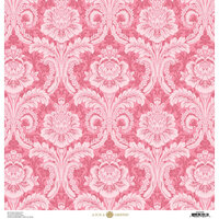 Anna Griffin - Feather Collection - 12 x 12 Paper - Damask Pink