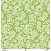 Anna Griffin - Feather Collection - 12 x 12 Paper - Full Green