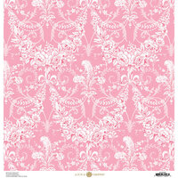 Anna Griffin - Feather Collection - 12 x 12 Paper - Garland Pink
