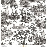 Anna Griffin - Toile Collection - 12 x 12 Cardstock - Pastoral Black