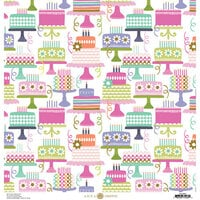 Anna Griffin - Birthday Collection - 12 x 12 Cardstock - Birthday Cake