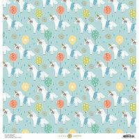Anna Griffin - Birthday Collection - 12 x 12 Cardstock - Birthday Unicorns Blue