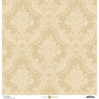 Anna Griffin - Damask Collection - 12 x 12 Cardstock - Ivory