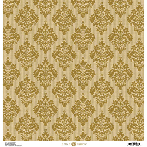 Anna Griffin - Damask Collection - 12 x 12 Cardstock - Gold
