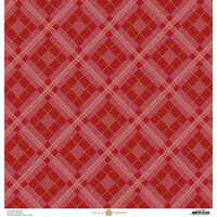 Anna Griffin - Fall Plaid Collection - 12 x 12 Cardstock - Red and Gold Foil Glen