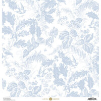 Anna Griffin - Christmas Toile Collection - 12 x 12 Paper - Blue Christmas Botanical
