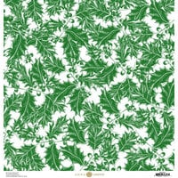 Anna Griffin - Christmas Toile Collection - 12 x 12 Paper - Green Holly