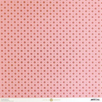 Anna Griffin - Smitten Collection - 12 x 12 Cardstock - Pink and Gold Foil Dot