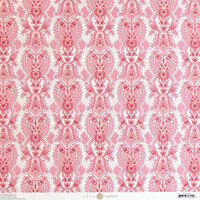 Anna Griffin - Smitten Collection - 12 x 12 Cardstock - Pink Damask