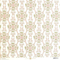 Anna Griffin - Smitten Collection - 12 x 12 Cardstock - Pink and Green Wreath