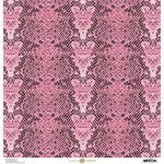 Anna Griffin - Animal Prints Collection - 12 x 12 Cardstock - Pink Snakeskin