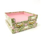 Anna Griffin - Olivia Collection - Craft Room Paper Organization - Damask