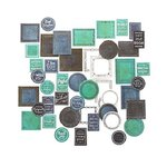 Anna Griffin - Tags and Sentiments Collection - Chalkboard Frames
