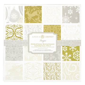 Anna Griffin - The Georgette Holiday Collection - Christmas - 12 x 12 Double Sided Cardstock Pack