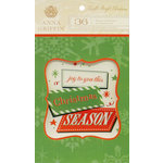 Anna Griffin - Twinkle Bright Collection - Christmas - Vellum Quote Pad