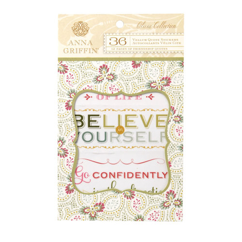 Anna Griffin - Olivia Collection - Vellum Quote Stickers