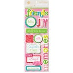 Anna Griffin - Isabelle Collection - Glittered 3 Dimensional Stickers - Titles, CLEARANCE