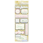Anna Griffin - Cecile Collection - Glittered 3 Dimensional Stickers - Titles, CLEARANCE